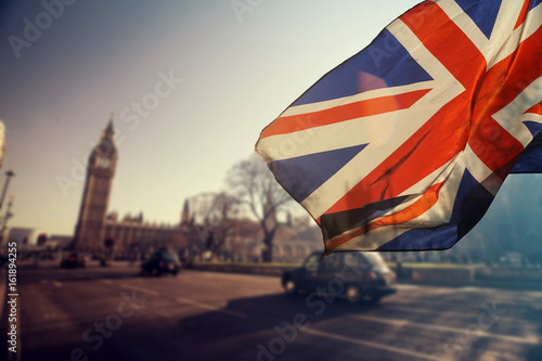 Photo UK flag and Big Ben