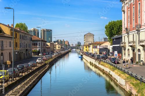 In de dag Kanaal Milano, Navigli, Italy