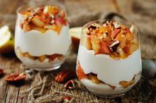 Caramelized Apples Pecan Greek Yogurt Parfait