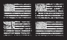 USA American Grunge Flag Set, ...
