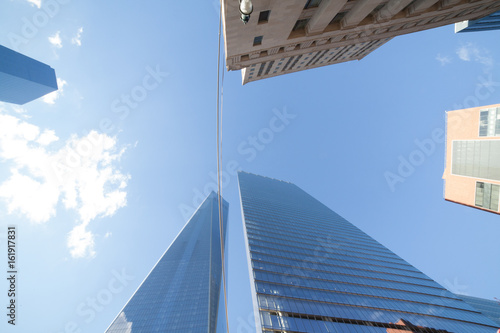 Freedom Tower / One World Trade Center and surrounding buildings Plakat