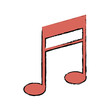 music note armony melody icon vector illustration