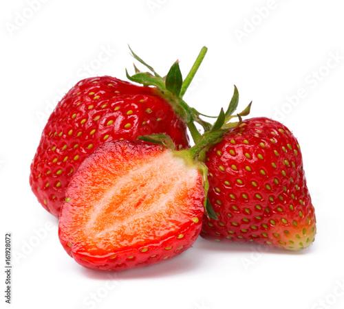 Staande foto Vruchten Strawberry isolated on white background. close up