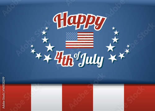 Happy 4th Of July American Independence Day Vector Template