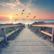 canvas print picture - romantischer Abend am Strand