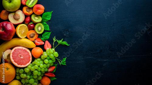 Papel de parede Set of fresh fruits