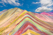 Vinicunca Or Rainbow Mountain,Pitumarca, Peru