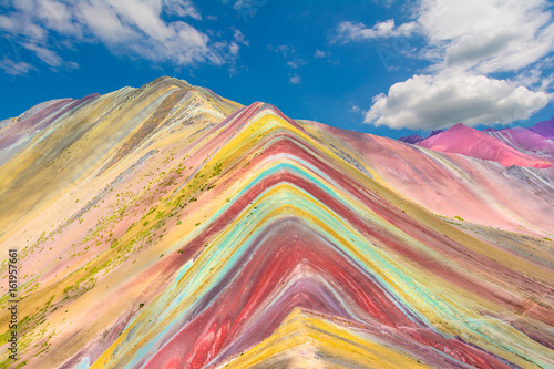 Poster South America Country Vinicunca or Rainbow Mountain,Pitumarca, Peru