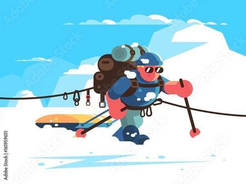 Photo Man alpinist character