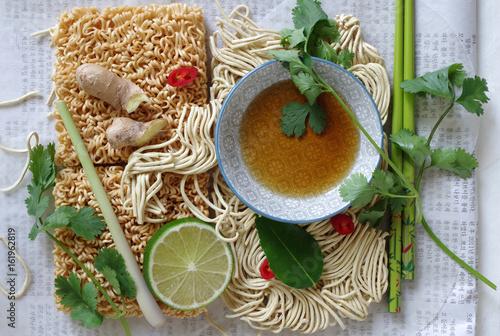 Fotografia  Zutaten für asiatische Gerichte