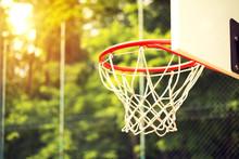 Junior Basketball Hoop In Park...