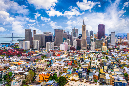 San Francisco, California, USA Skyline Wallpaper Mural
