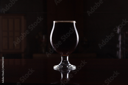 Canvas Print Imperial Stout Beer in Goblet