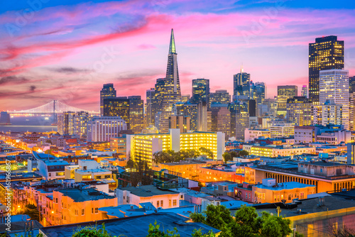 Tuinposter San Francisco San Francisco, California, USA Skyline