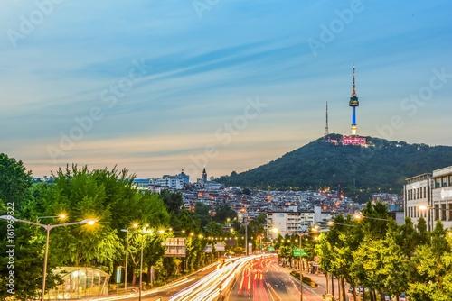 itaewon city nightview, seoul, korea Poster