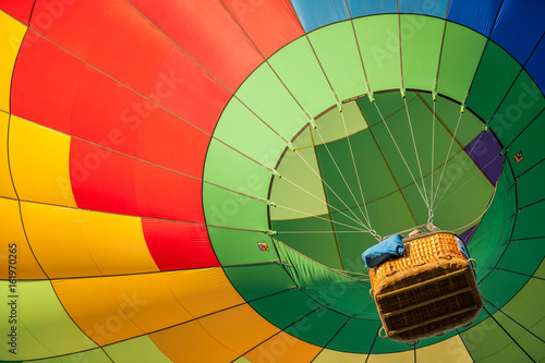 Canvas-taulu hot air balloon fiesta event exhibition