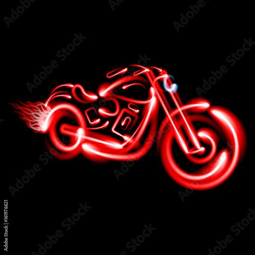 Fotografía Classic vintage motorcycle.