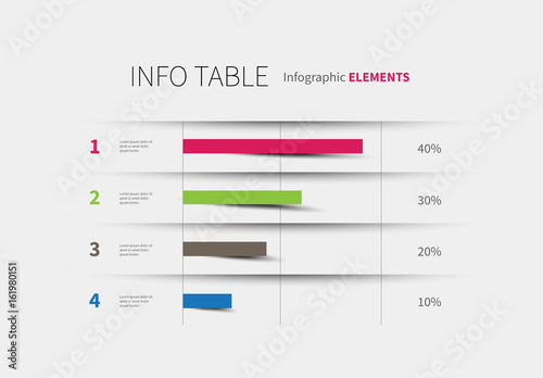 Infographic table template