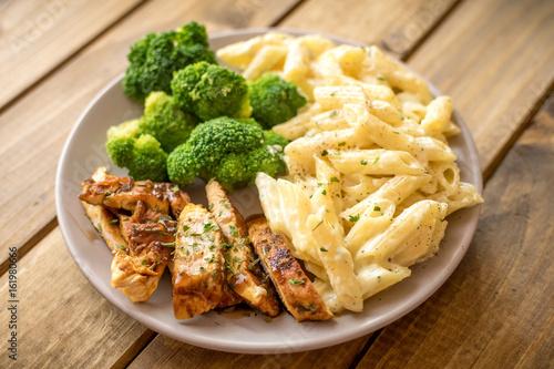 Chicken broccoli Alfredo Canvas Print