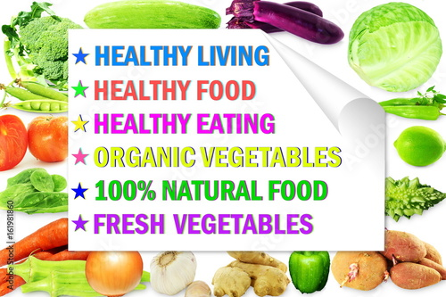 Fototapety, obrazy: healthy living vegetable background