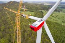 Aufbau Eines Windrades, Windkraftanlage
