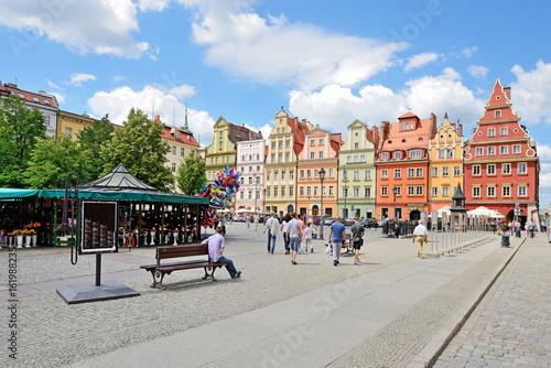 Solny square, Wroclaw, Poland