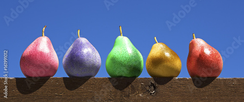 Multicolored pears