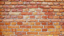 Równy Ceglany Mur Na Fototapetę