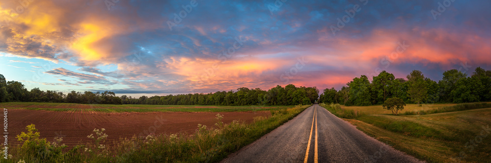 Fototapety, obrazy: Beautiful sky with country road