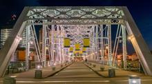 Nashville Pedestrian Bridge With Banners