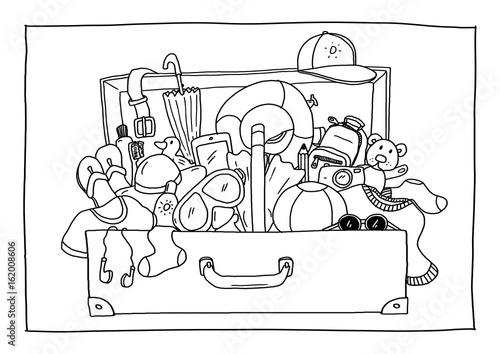 Ausmalbild Koffer Packen Kaufen Sie Diese Illustration