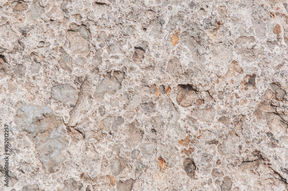 Valokuva Gray and brown conglomerate texture