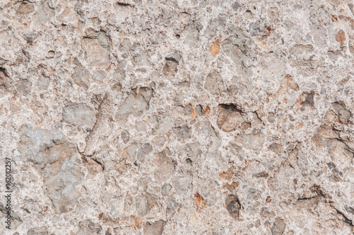 Photo Gray and brown conglomerate texture