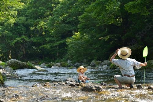 Fotografia  夏の休日・清流で遊ぶ二人