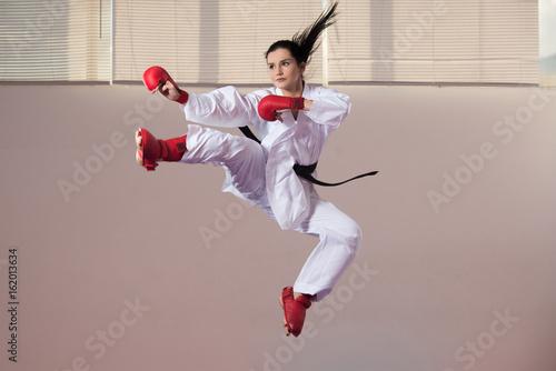 Taekwondo Fighter Pose Wallpaper Mural