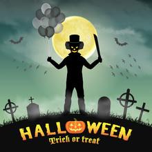 Halloween Spooky Clown In A Ni...