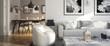 Leinwanddruck Bild - Ramgestaltung: Apartment (panoramisch)