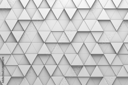 Fotografie, Obraz  Triangular Tiles 3D Pattern Wall