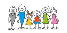 Stick Figure Series Family / Familienglück, Familienfoto