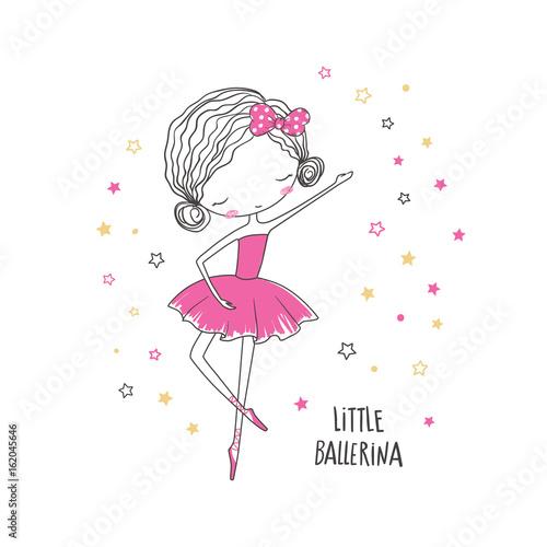 Fotografie, Obraz  Little ballerina. Fashion illustration for clothing