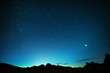 canvas print picture - Teneriffa, Stars, Venus, Teide, Lava Formations