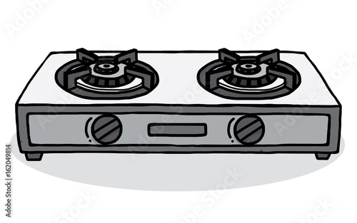 Gas Stoves Cartoon Vector And