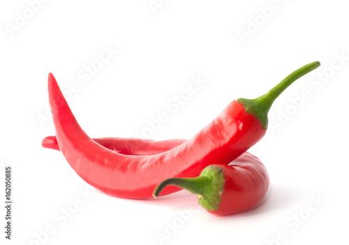 Keuken foto achterwand Hot chili peppers chili pepper isolated