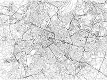 Cartina Di Bruxelles, Città, Strade, Belgio