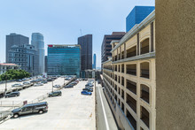 Modern Buildings And Parking Structure