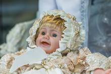 Porcelain Doll With Blue Eyes