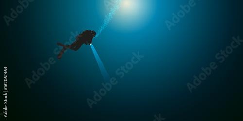 Valokuva  plongée - plongée sous-marine - plongeur - mer -seul - océan - sport