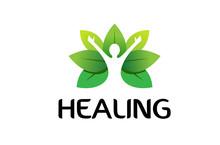 Healing Body Leaves Logo Desig...