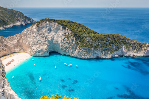 Navagio Beach in Zakynthos Island Canvas Print