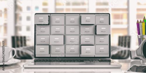 Fotografie, Obraz  Laptop data storage